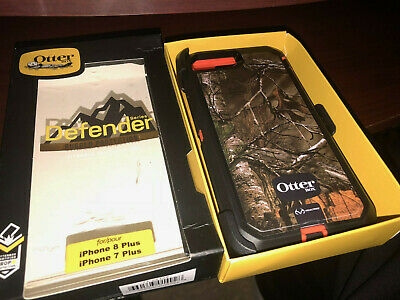 IPHONE 8 PLUS 7 PLUS oTTerBoX DEFENDER REALTREE CAMO CASE HOLSTER KICKSTAND