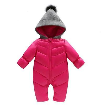 6d6cf9b40 Toddler Soft Baby Girl's Boy's Down Snow Suit One Piece 6 12 18 24 Months