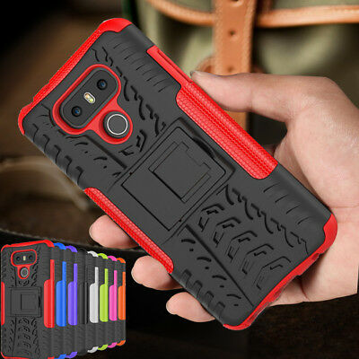 LG G6 Q6 + Case, Heavy Duty Armour Tough ShockProof Builder and Hard Back Cover