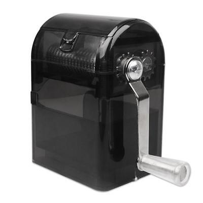 Herb Grinder Tobacco Cutter Hand Muller Shredder with Tobacco Storage Case Black