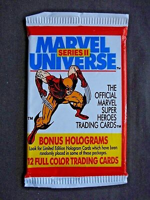 1992 IMPEL *MARVEL UNIVERSE SERIES II* SEALED PACK (Wolverine version)