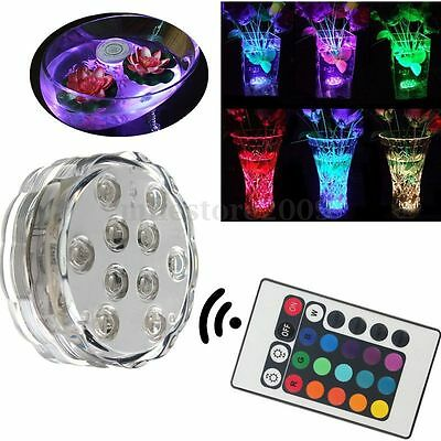 10LED MultiColor Submersible Waterproof Christmas Party Vase Base