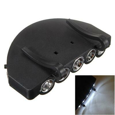 Clip-On 5 LED Head Cap Hat Light HeadLamp Torch Fishing Camping Hunting