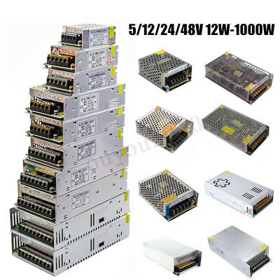 110V-220V to DC5V 12V 24V 48V Switch Power Supply Driver Adapter LED Strip