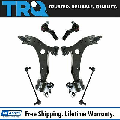 TRQ 8 Piece Steering Suspension Kit Control Arms w//Ball Joints Tie Rods for TL