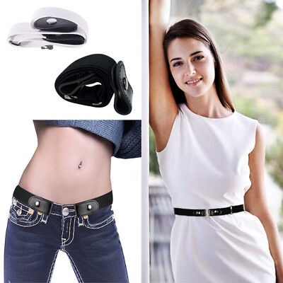 Buckle-free Adjustable Belt Unisex Elastic Stretchy Womens Invisible Comfortable