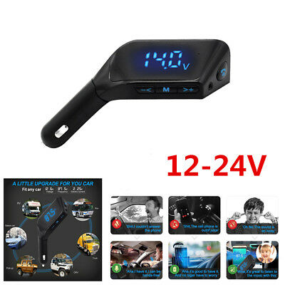 Car MP3 Player Dual USB Charger FM Bluetooth Hands-free Wireless Radio Adapter