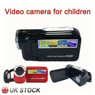 16MP Mini Digital Camera DV Camcorder 2.0″ LCD 4X Zoom Kids Children Gift