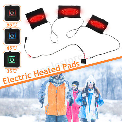 3PCS 5V 1.4A USB Electric Heating Pad 35℃-55℃ Adjustable Waist Back Pet Pad IT