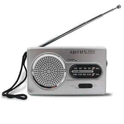 Portable AM FM Mini Radio Battery Powered Compact Transistor Home Outage Power