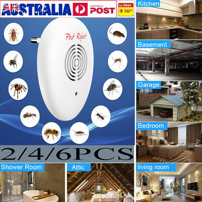 6 Ultrasonic Pest Control Electronic Repeller Rat Mosquito Insect Mice Repellent