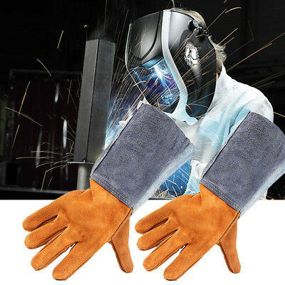 Soft Cowhide Welding Welders Safe Gloves Leather  Driver Repair Work Protective