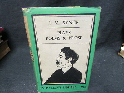 Plays, Poems and Prose Everyman No 96, John M Synge, 1941, J M Dent, Good