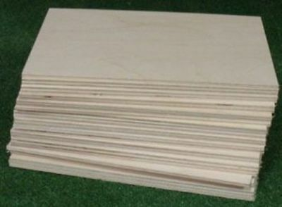 "1/8""  x 8.5 x 11 Baltic Birch Plywood for Laser, Scoll Saw 46 piece Lot CLOSEOUT"