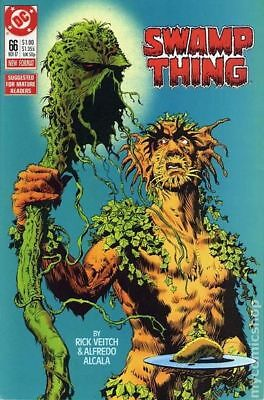 Swamp Thing (2nd Series) #66 1987 FN Stock Image