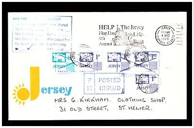 Jersey Cover Postage Unpaid, Postage Due's Added. 1978. Used. #27