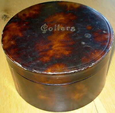 Antique / Vintage Leather Collar Box Complete with 18 Collars . Ex.Display Piece