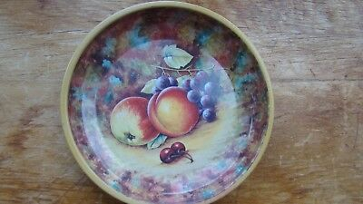 """VINTAGE DAHER DECORATED WARE PAINTED FRUIT TIN TRAY Holland RARE 6.5"""""""