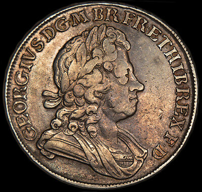 RARE KING GEORGE THE I 1716 SILVER CROWN.. Excellent Condition...