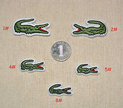 Alligator Sport Logo Embroidered Iron/Sew On Patch 5 Sizes Optionals Cloth Badge