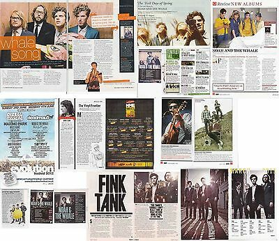 NOAH & THE WHALE : CUTTINGS COLLECTION -adverts interviews-