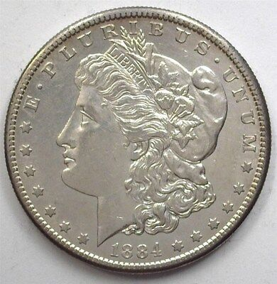 1884-S Morgan Silver Dollar  Uncirculated+ Rare In Unc! Keydate!
