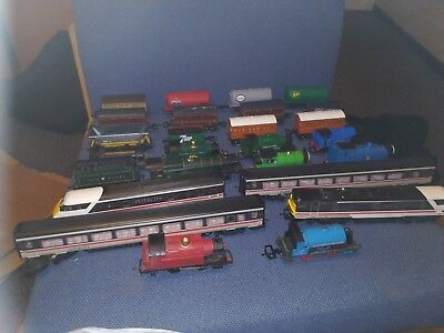 Job lot of Hornby model trains and rolling stock.