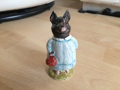 Beswick Beatrix Potter Pig Wig Bp3G Brown Backstamp