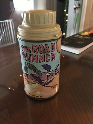 Vintage Road Runner Lunch Box Thermos Only no cup Free Shipping