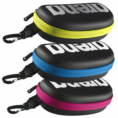Arena Swimming Goggle Storage Pouch Case with Zip and Clip