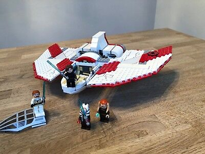 LEGO Star Wars T-6 Jedi Shuttle 7931 Gebaut+Zerlegt Built+Deconstructed