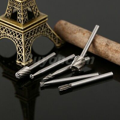 6pcs HSS Routing Router Burr Bits Grinding Shaft Rotary Milling Cutter Craft UK