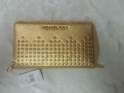 bde028d9b76b Michael Kors Gold Leather Hayes Lg Flat Phone Case Wristlet/wallet Luggage