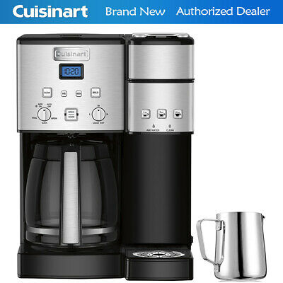 Cuisinart SS-15 12-Cup Coffee Maker and Single-Serve Brewer with Milk Carafe