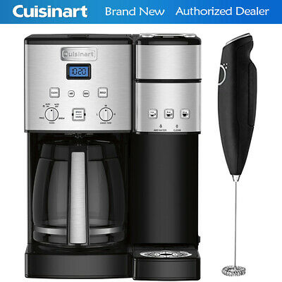 Cuisinart 12-Cup Coffee Maker and Single-Serve Brewer w/ Electric Milk Frother