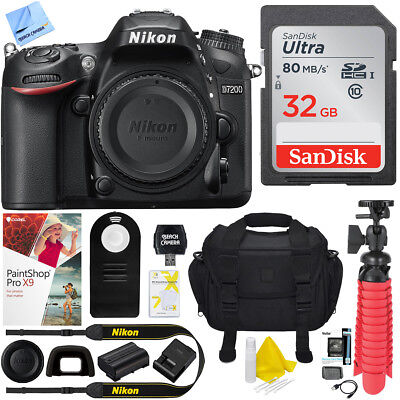 Nikon D7200 DX-Format 24.2MP Digital HD-SLR Body with 32GB Kit
