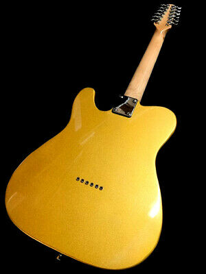New Left Handed 12 String Tele Style Electric Guitar Natural - Lightweight Body