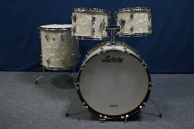 "LUDWIG  USA  60th Vintage Shellset in ""White Marine Pearl"" -  22,12,13,16"""