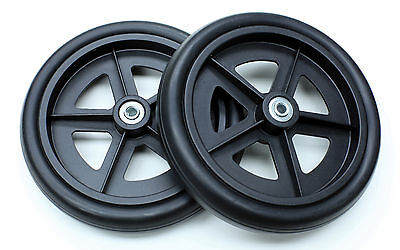 "Rollator Replacement Parts 8"" Caster Wheel Black Drive 10257 C4608-BK 2 pcs NEW"