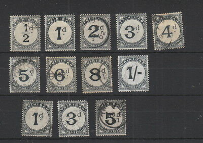 Trinidad Postage Dues 12 stamps