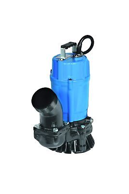 "Tsurumi HS3.75S; semi-vortex submersible trash pump w/agitator, 1hp, 115V, 3""..."