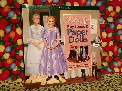 American Girl Felicity PLAY SCENES & PAPER DOLLS New!