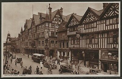 Eastgate Street Chester, England 1899 Collotype by Valentine's