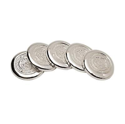 5 x 5oz Silver Buttons by Scottsdale Mint - 25oz .999 Silver #A309
