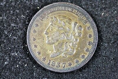 1837 - Hard Times Token Millions for Defence Not One Cent For Tribute!!  #H18034