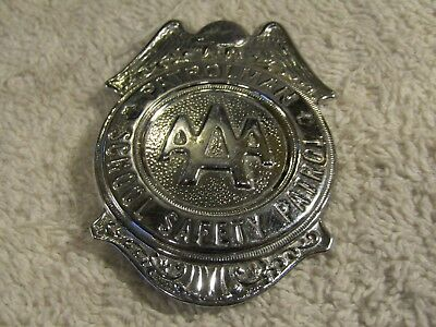 "Vintage AAA School Safety Patrol Large 2.5"" Badge Pin Pinback Grammes Allentown"