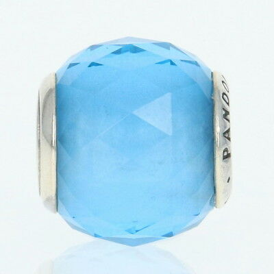 NEW Authentic Pandora Geometric Facets Charm Sterling Sky Blue Crystal 791722NBS