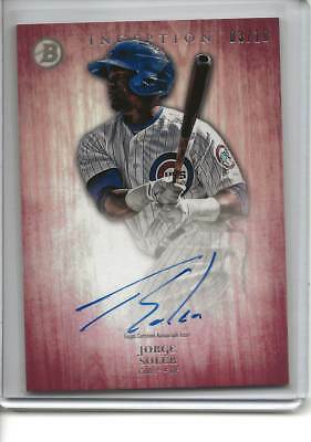 2014 Bowman Inception Jorge Soler Rc Auto #3/10