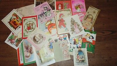 Large Lot of Vintage Greeting Cards Kid Themed