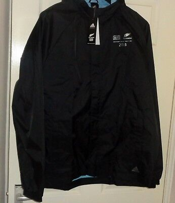 Bnwt! Large Adidas Aig New Zealand All Blacks Coat: Rugby World Cup 2015